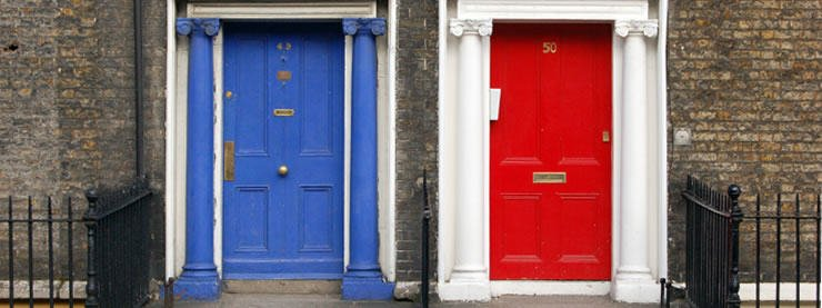 CELTA Courses Dublin Red Blue Doors