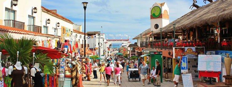 Main Shopping Street Riviera Maya