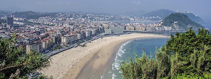 View of San Sebastian Spain