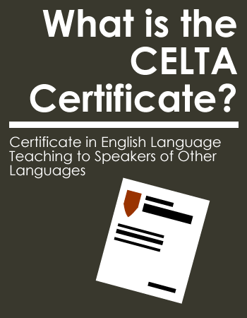 What is the CELTA Certificate