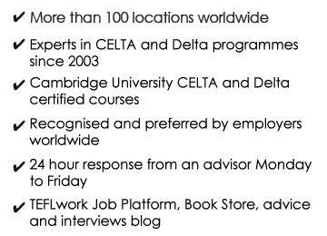 CELTA Courses and Delta Modules, Teaching English | StudyCELTA