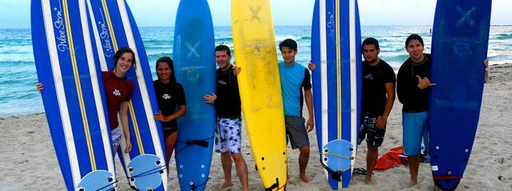 CELTA Students Surfing Miami