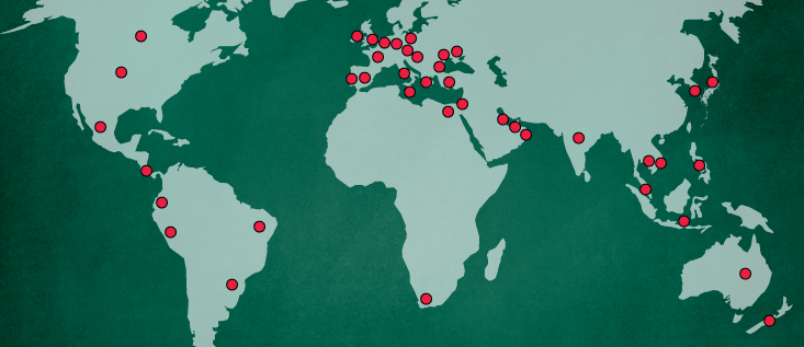 World Map CELTA Courses