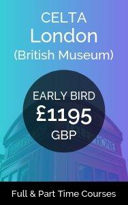 London CELTA Course early bird