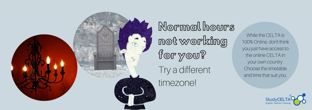 online CELTA choose your timezone StudyCELTA English teacher training