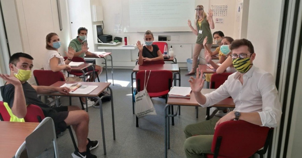 a group of celta students in a face-to-face celta course